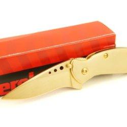 Kershaw Scallion 1620 Assisted Opening Pocket Knife, Plain Edge, Satin 24K Gold Finish