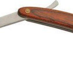 Rite Edge Knives Cn210728 Razor With Rich Grain Wood Handles