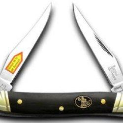 Steel Warrior Buffalo Horn Muskrat Pocket Knife Knives