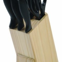 Richardson Sheffield 6-Piece Laser Cuisine Knife Set With Wood Block, Natural