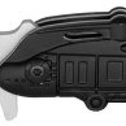 "3"" ""Marines Helicopter"" Spring Assisted Rescue Knife - Special Forces - Black"