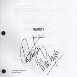 Machete Star Danny Trejo Signed Script In-Person