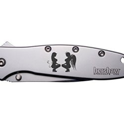 Naughty And Nice Girls Engraved Kershaw Leek 1660 Ken Onion Design Folding Speedsafe Pocket Knife By Ndz Performance