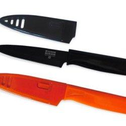 Kuhn Rikon Autumn Colori Knife Set, Orange And Black