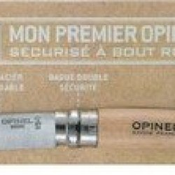 Opinel No 7 Round Ended Safety Tip Scouts Folding Knife (Beech Wood Natural)