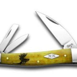 Case Xx Antique Bone Deer Scene Seahorse Whittler 1/500 Pocket Knife Knives