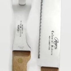 Rogers Colonial Sabers 2 Pc Stainless Steel Carving Knife & Fork Set
