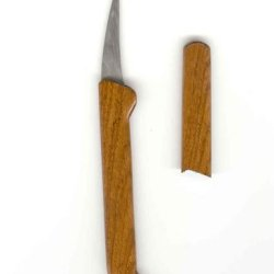 Wood With Sheath Fruit Carving Knife