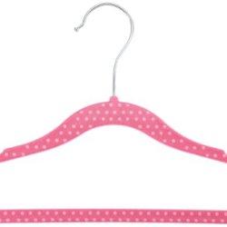Amazonbasics Kids Velvet Hangers - Pink (Set Of 30)