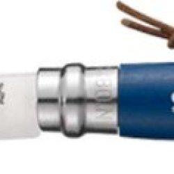 Opinel Trekking Blue Folding Knife,3.25In,12C27 Mod Sandvik Stainless Blade,Blue Dyed Wood 1704