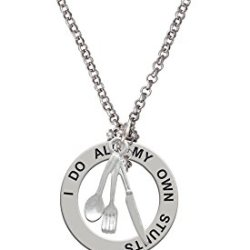 Fork Knife And Spoon - Stunts Affirmation Necklace