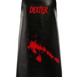 Dexter Apron Made Of Black Vinyl With Adjustable Neck Strap