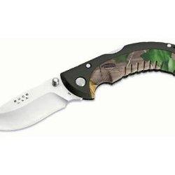 Buck 10 Point Realtree Hardwoods Green Hd Omni Avid Hunter Tm Knife (Camo, 3-Inch)