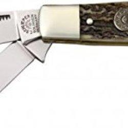 German Eye Premium Stockman Folding Knife,Solingen Steel Blade, Genuine Stag Handle 350Ds
