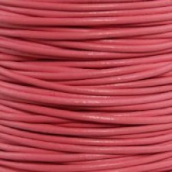 """#16 Pink Round Leather Cord 2Mm (3/32"""") X 50 Meters (54.68 Yds)"""