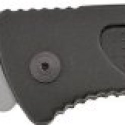 Sog Specialty Knives & Tools Ff24-Cp Escape Knife With Part-Serrated Folding 3.4-Inch Steel Clip Point Blade And Aluminum Handle, Bead Blasted Finish
