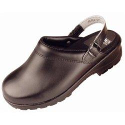 Black Flex-Step Clogs Size 46. Uk Size 11. With Back Strap.