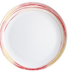 Kahla Five Senses Breakfast Plate 8-3/4 Inches, Whirl Red Yellow Color, 1 Piece