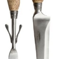 Teton Cbg500Cs Antler Themed 2-Piece Big Game Carving Set