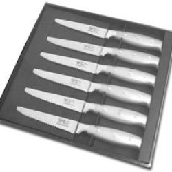 Hen & Rooster And International 6 Piece Stainless Steel Kitchen Steak Knife Knives Set