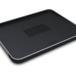 Joseph Joseph Large Cut And Carve Plus Multi-Function Chopping Board, Black