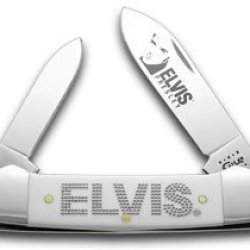 Case Xx White Delrin Elvis Presley Canoe Pocket Knife Knives