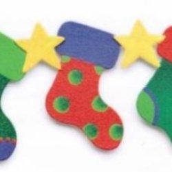 Demdaco Border Magnet 17455 - Three Christmas Stockings