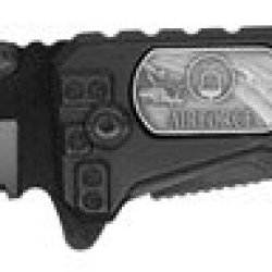 """3.5"""" Falcon """"Air Force Hero"""" Spring Assisted Rescue Knife - Black"""