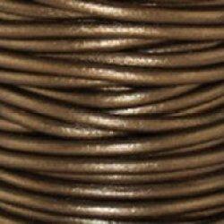 "Kansa Metallic Round Leather Cord 1.5Mm (1/16"") X 10 M (10.93 Yds)"