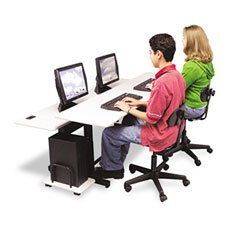 Picture of Comfortable BLT83080 - Split-Level Computer Training Table (B001AJQIWO) (Computer Tables)