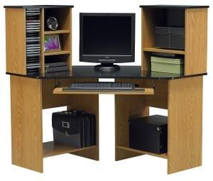 Picture of Comfortable Corner Computer Desk by Ameriwood 49652 (B005LWNO8M) (Computer Desks)