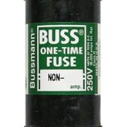 Bussmann Bp/Non-100 100 Amp One-Time Cartridge Fuse Non-Current Limiting Class H, 250V Ul Listed Carded