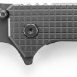 Schrade Sch302S Frame-Lock Titanium Coated Partially Serrated Tanto Blade Folding Knife With Checkered Handle
