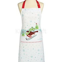 Kitchen Craft Santa & Friends Cotton Apron - 90 X 70Cm