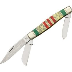 Rough Rider Vietnam Large Fold Knife, Clip, Spey And Sheepsfoot Blade Kb308 Stoneworx