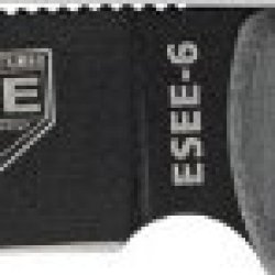 Esee Knives Model 6 Knife Plain Edge Black Clip Point Blade