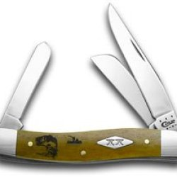 Case Xx Smooth Antique Bone Bass Fever 1/500 Stockman Pocket Knife Knives