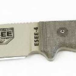 Esee 4P-Dt Desert Tan Fixed Blade Knife W/ Od Green Molded Polymer Sheath