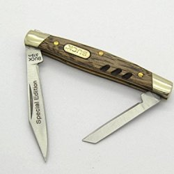 Buck 375 Deuce Special Edition Small Knife Zebra Wood Handle