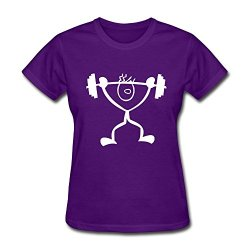 Women'S Strong Guy Weightlifting Hot Topic T Shirt Size Xxl Color Purple