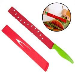 "Pkp 11"" Watermelon Knife Japanese Carbon Steel Metal Serrated Blade W/ Sheath"