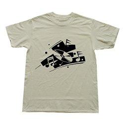 Goldfish Men'S Classic Pre-Cotton Cd Art Music T-Shirt Natural Us Size M