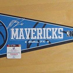 Dirk Nowitzki Dallas Mavericks Signed Autographed Pennant Global Coa
