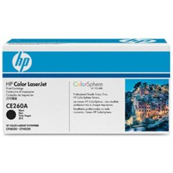 Original Hp Ce260A (Hp Color Series) 8500 Yield Black Toner Cartridge - Retail