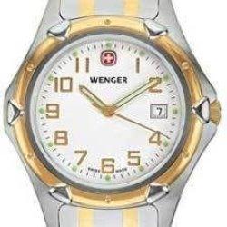 Wenger Men'S 73119 Standard Issue Xl White Dial Steel Bracelet Watch