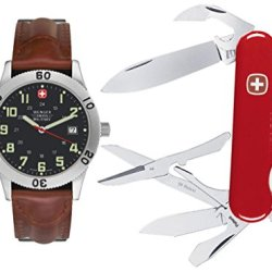 Wenger Mens Set 72965 Grenadier Swiss Military Watch & Teton Swiss Army Knife