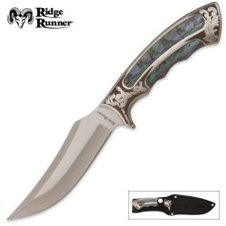 Ridge Runner Executive Bowie Imitation Abalone With Sheath