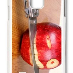 Mokshop Adorable Funny Apple Knife Hard Case Protective Shell Cell Phone Cover For Samsung Galaxy Note 4 - Pc White