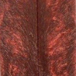 "Crushed Cranberry Inlace Acryl 05 W Eye 2 Pc Knife Scale 1/4""X1 1/2""X6"" E01"