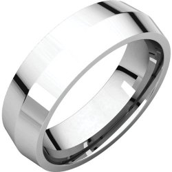 14K White Gold 6Mm Knife Edge Comfort Fit Band Size: 7
